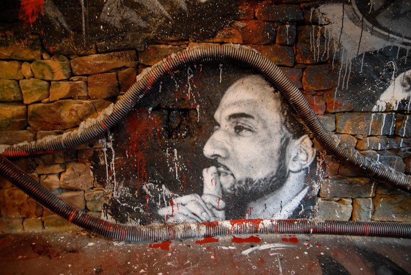 Tariq Ramadan graffiti (zdj. Thierry Ehrman, Flickr, CC-BY-2.0)